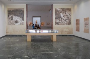 The main hall of the Archaeological Museum of Olympia, in Greece.