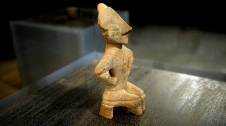 The Neolithic Goddess on the Throne a terracotta figurine. ©AFP