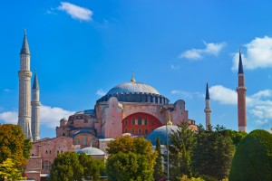 The Hagia Sophia is a domed monument built as a cathedral and is now a museum in Istanbul, Turkey. CREDIT: Tatiana Popova   Shutterstock