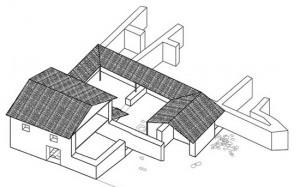 Vardarski Rid, the House of the Collector, reconstruction (after Gerasimovska 2009, fig. 123)