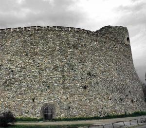 Skopje Fortress - outside wall