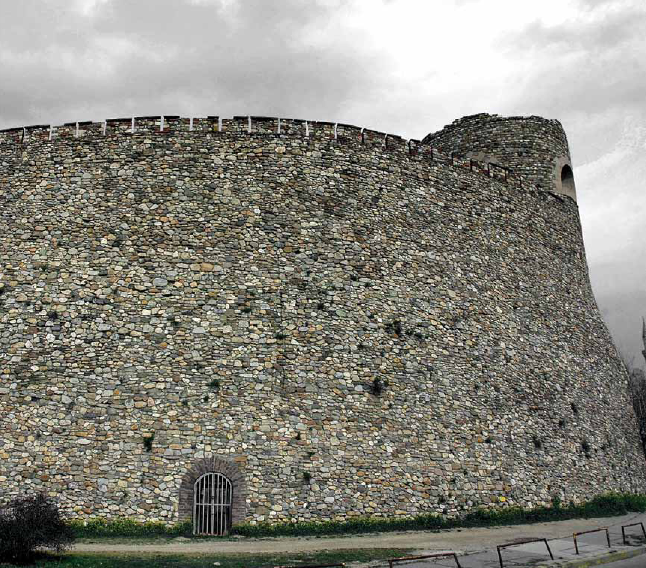 Skopje Fortress - outside wall