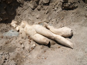 An extremely precious statue of the goddess Venus (3rd c. AD), was found recently during the archaeological excavations at Skupi, the ancient Roman town within the limits of today's Skopje (Republic of Macedonia). The original statue has a value similar to the ones displayed at the Louvre Museum in Paris, and can be seen at the Museum of the City of Skopje.