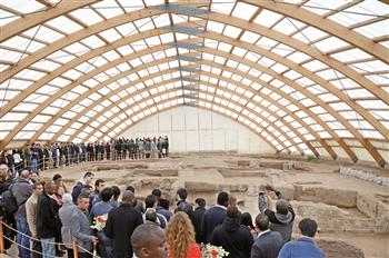 As part of the Tourism Week diplomats visited Çatalhöyük site in Konya. AA Photo