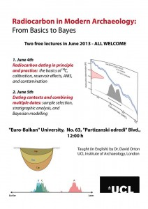 Lectures by David Orton in Skopje