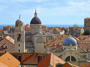 Dubrovnik's domed churches. (Amy Laughinghouse)