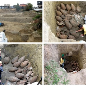 Nesebar - cellar with amphorae