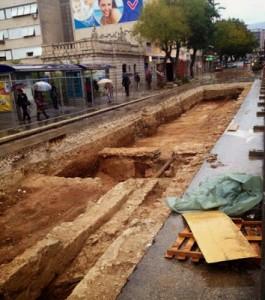 Remains of 4th century amphitheatre found in Split The Roman amphitheatre found in Split. [Credit: Ivica Profaca /TOTALSplit]