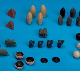 These sculpted stones unearthed from an early Bronze Age grave in Turkey could be the earliest gaming tokens ever found [Credit: Haluk Sağlamtimur]
