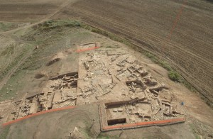 The playing pieces were recovered from one of nine graves found at Başur Höyük, a 820- by 492-foot mound near Siirt in southeast Turkey. Inhabited as early as from 7,000 BC, the site was on a trade route between Mesopotamia and East Anatolia [Credit: Haluk Sağlamtimur]
