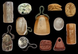 These seals carved with religious inscriptions were found near the site of the ancient city of Doliche. Credit: University of Münster