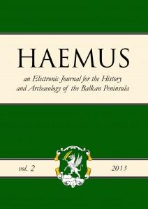 Cover Haemus Journal 2-2013