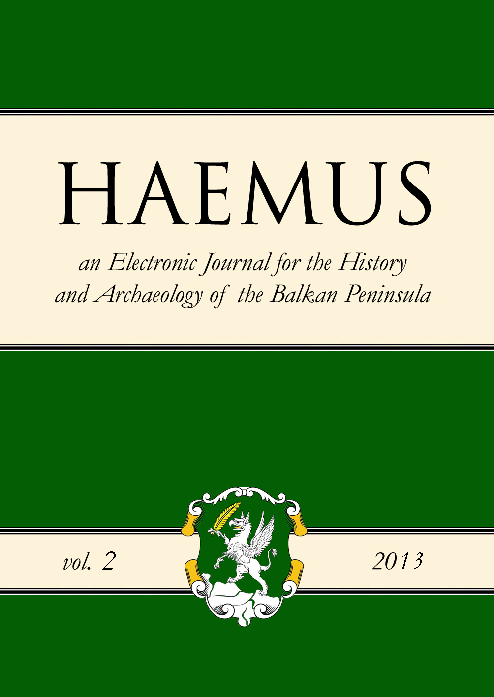 Cover Haemus Journal 2-2013
