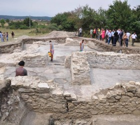 A dig in Kosovo has uncovered a new Roman site - but officials fear it cannot be put up for UNESCO protection as Kosovo is not a member of the world organization [Credit: Dibran Vataj]