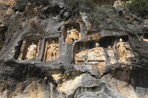 The reliefs on the rocks are thought to have been made over the course of around 250 years. AA photos