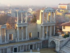 A view of the Roman Theater of Philippopolis