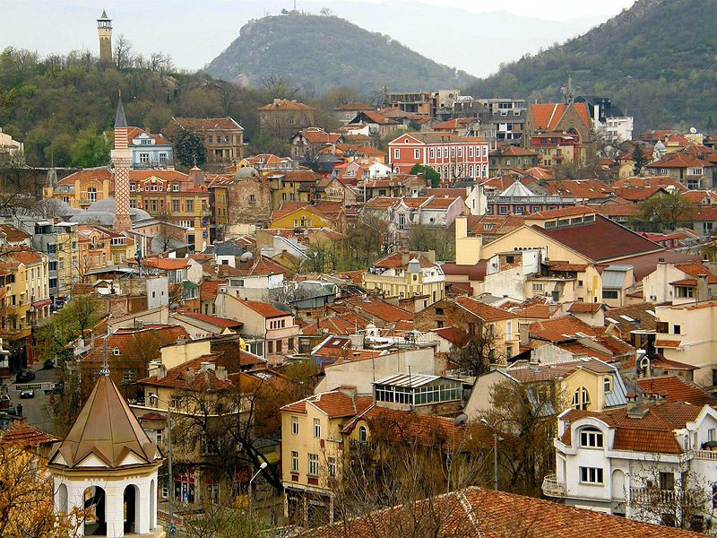 View of the old city of Plovdiv