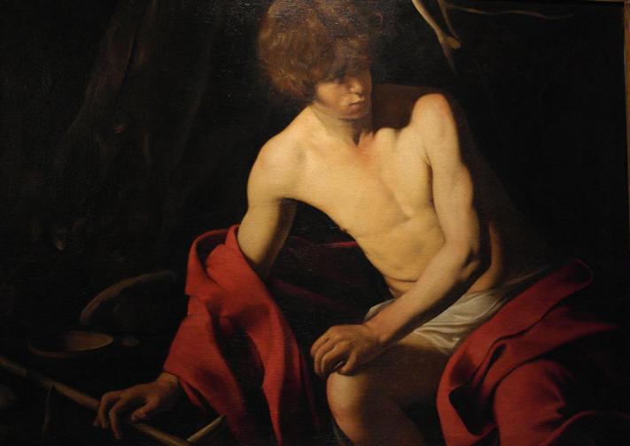 "Caravaggio painting ""John the Baptist."""
