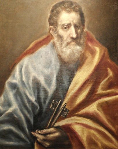 "El Greco painting ""Saint Peter."""
