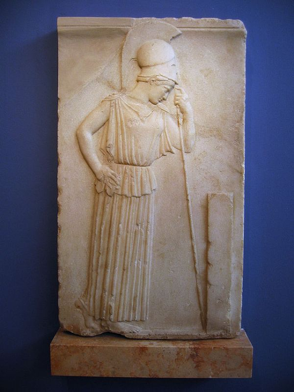 "Relief of ""Mourning Athena"" from the Acropolis."