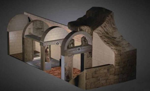 Amphipolis Tomb by Greektoys.org (update) on Sketchfab