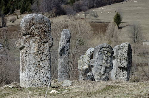 Stećci near Novi Travnik